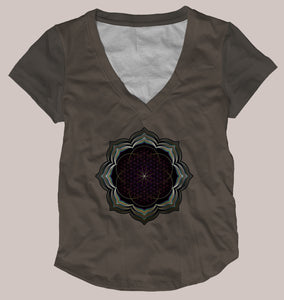 Celestial Bloom Women's Signature Shirt - Tetramode® | Psy Styles. Men & Womens Psychedelic Tops & Bottoms