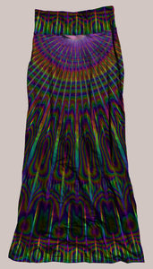 Psychedelic Breathable & Flowy Radiance Synergy Skirt Rainbow, Tie-Dye Hippie Prismatic