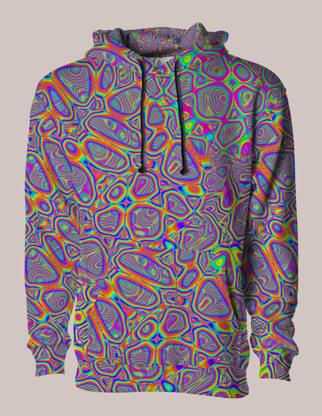 Metamorphosis ⦿ Psychedelic Pullover Hoodie, Unisex Jacket, Psytrance Top, Psychedelic Clothing, EDM Gear, Rave Style, Festival Wear