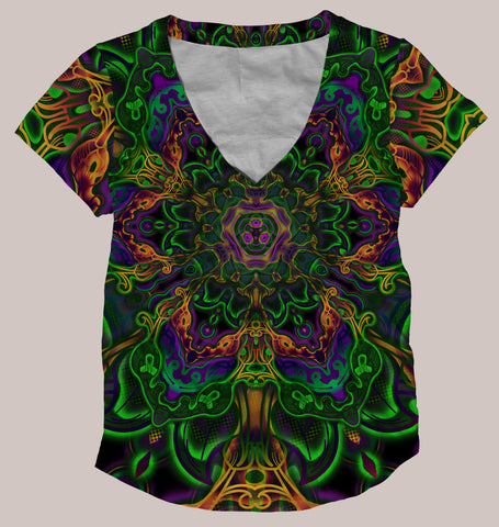 Dialogue :: Psychedelic Women's All-Over Print Shirt - Tetramode® | Psy Styles. Men & Womens Psychedelic Tops & Bottoms