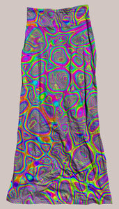 Psychedelic Breathable & Flowy Metamorphosis Synergy Skirt Rainbow, Melty, Groovy