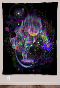 Psychonaut Psychedelic UV-Reactive Tapestry (60x80in) - Tetramode® | Psy Styles. Men & Womens Psychedelic Tops & Bottoms