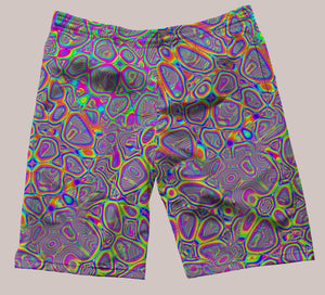 Metamorphosis Festi-Go Shorts - Tetramode® | Psy Styles. Men & Womens Psychedelic Tops & Bottoms
