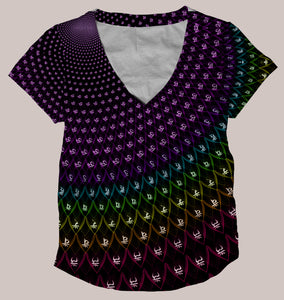Sahasrara :: Women's All-Over Print Psychedelic Chakra Shirt - Tetramode® | Psy Styles. Men & Womens Psychedelic Tops & Bottoms