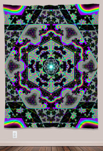 Microgram Psychedelic UV-Reactive Tapestry (60x80in)