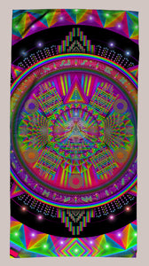 Psytech Immersion Towel - Tetramode® | Psy Styles. Men & Womens Psychedelic Tops & Bottoms