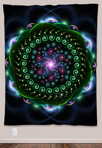 Jicuri Psychedelic UV-Reactive Tapestry (60x80in) - Tetramode® | Psy Styles. Men & Womens Psychedelic Tops & Bottoms