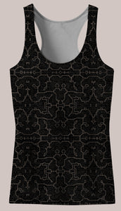 Ancestral :: Kene Women's Racerback Tank Top - Tetramode® | Psy Styles. Men & Womens Psychedelic Tops & Bottoms