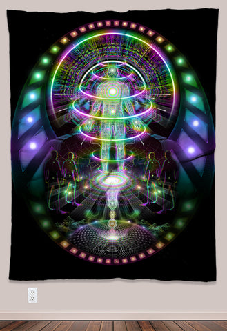 Launch Pad Psychedelic UV-Reactive Tapestry (60x80in) - Tetramode® | Psy Styles. Men & Womens Psychedelic Tops & Bottoms