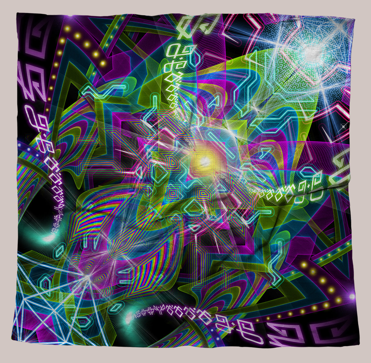 Ungulation UV-Reactive Bandana - Tetramode® | Psy Styles. Men & Womens Psychedelic Tops & Bottoms
