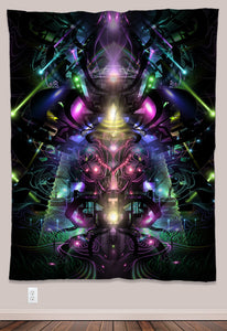 Symmatrix Psychedelic UV-Reactive Tapestry (60x80in) - Tetramode® | Psy Styles. Men & Womens Psychedelic Tops & Bottoms