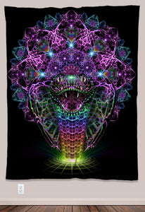 Naga Psychedelic UV-Reactive Tapestry (60x80in) - Tetramode® | Psy Styles. Men & Womens Psychedelic Tops & Bottoms