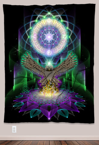Owlchemy Psychedelic UV-Reactive Tapestry (60x80in) - Tetramode® | Psy Styles. Men & Womens Psychedelic Tops & Bottoms