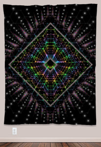 Lightspeed Psychedelic UV-Reactive Tapestry (60x80in) - Tetramode® | Psy Styles. Men & Womens Psychedelic Tops & Bottoms