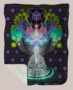 Dreamtime ◊ Sherpa Retreat Blanket - Tetramode® | Psy Styles. Men & Womens Psychedelic Tops & Bottoms