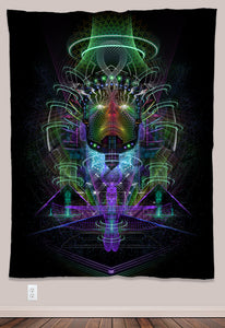 Breakthrough Psychedelic UV-Reactive Tapestry (60x80in) - Tetramode® | Psy Styles. Men & Womens Psychedelic Tops & Bottoms
