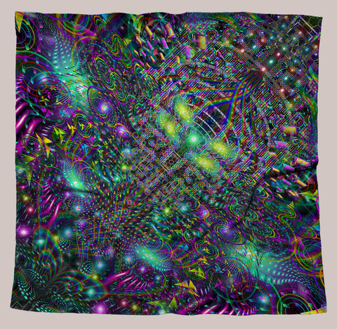 Huachamama UV-Reactive Bandana - Tetramode® | Psy Styles. Men & Womens Psychedelic Tops & Bottoms