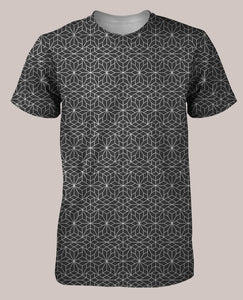 Frequencies :: Crystallize Men's All-Over Print Shirt - Tetramode® | Psy Styles. Men & Womens Psychedelic Tops & Bottoms