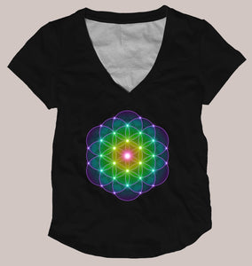 Flower of Life Women's Signature Shirt - Tetramode® | Psy Styles. Men & Womens Psychedelic Tops & Bottoms
