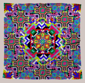 8-Bit Trip UV-Reactive Bandana - Tetramode® | Psy Styles. Men & Womens Psychedelic Tops & Bottoms