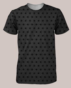 Frequencies :: Tetrahedron Men's All-Over Print Shirt - Tetramode® | Psy Styles. Men & Womens Psychedelic Tops & Bottoms