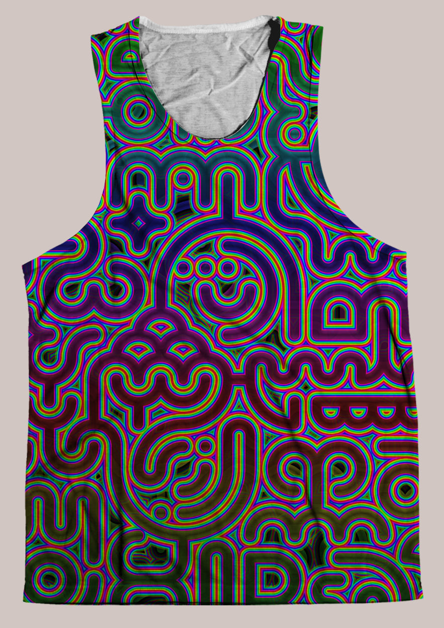 Psylingual :: Mens // HELIOS TANK TOP - Tetramode® | Psy Styles. Men & Womens Psychedelic Tops & Bottoms