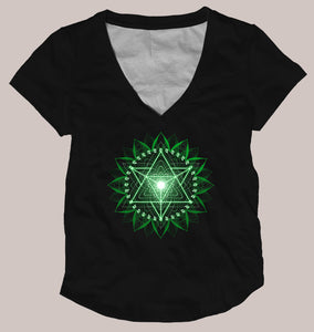 Anahata Women's Signature Shirt - Tetramode® | Psy Styles. Men & Womens Psychedelic Tops & Bottoms