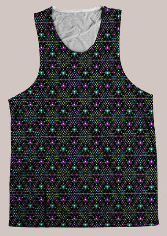 Triesselation : Mens // HELIOS TANK TOP - Tetramode® | Psy Styles. Men & Womens Psychedelic Tops & Bottoms