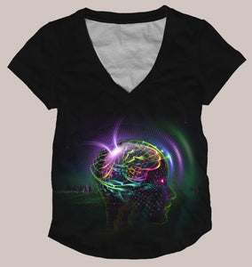 Reprogramming Women's Signature Shirt - Tetramode® | Psy Styles. Men & Womens Psychedelic Tops & Bottoms