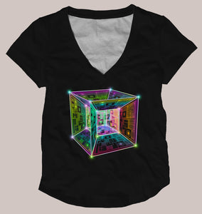 Tesseract Women's Signature Shirt - Tetramode® | Psy Styles. Men & Womens Psychedelic Tops & Bottoms