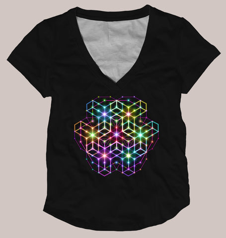 2cB Women's Signature Shirt - Tetramode® | Psy Styles. Men & Womens Psychedelic Tops & Bottoms