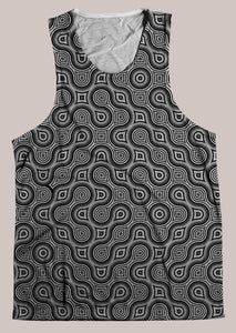 Thumbprint :: Mens // HELIOS TANK TOP - Tetramode® | Psy Styles. Men & Womens Psychedelic Tops & Bottoms