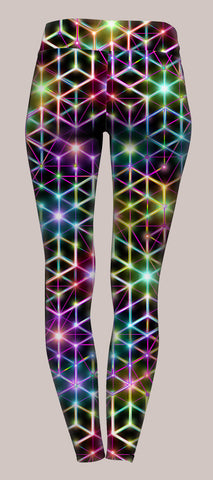 2CB Womens Yoga Pants - Tetramode® | Psy Styles. Men & Womens Psychedelic Tops & Bottoms