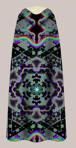Microgram △ Sherpa Lined Hooded X-Cape - Tetramode® | Psy Styles. Men & Womens Psychedelic Tops & Bottoms