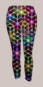 2CB Crop Leggings - Tetramode® | Psy Styles. Men & Womens Psychedelic Tops & Bottoms