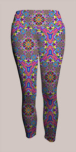 8 Bit Trip Crop Leggings - Tetramode® | Psy Styles. Men & Womens Psychedelic Tops & Bottoms