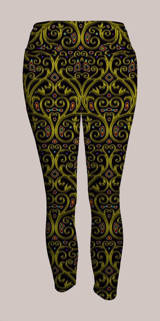 Arcanium Crop Leggings - Tetramode® | Psy Styles. Men & Womens Psychedelic Tops & Bottoms
