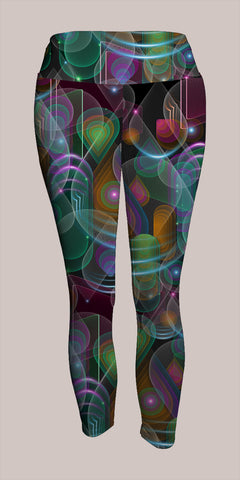 Bubblederop Crop Leggings - Tetramode® | Psy Styles. Men & Womens Psychedelic Tops & Bottoms