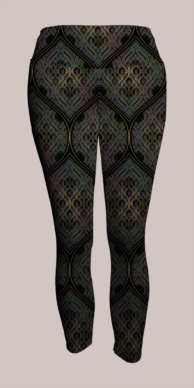 Ethos Crop Leggings - Tetramode® | Psy Styles. Men & Womens Psychedelic Tops & Bottoms