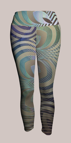 Incipient Crop Leggings - Tetramode® | Psy Styles. Men & Womens Psychedelic Tops & Bottoms