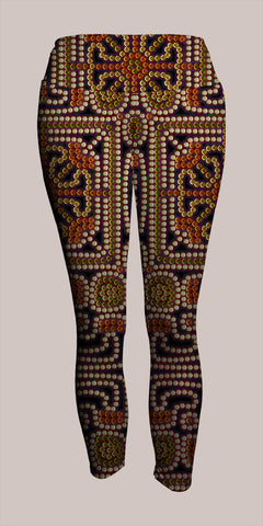 Kahatsa Crop Leggings - Tetramode® | Psy Styles. Men & Womens Psychedelic Tops & Bottoms