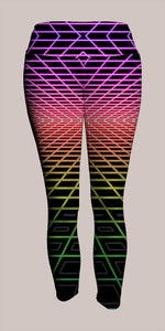 LoFi Crop Leggings - Tetramode® | Psy Styles. Men & Womens Psychedelic Tops & Bottoms