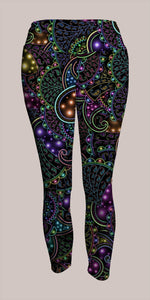 Neopaisley Crop Leggings - Tetramode® | Psy Styles. Men & Womens Psychedelic Tops & Bottoms