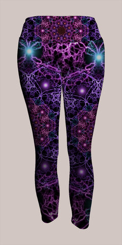 Nucleus Crop Leggings - Tetramode® | Psy Styles. Men & Womens Psychedelic Tops & Bottoms