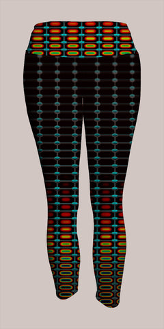 Optika Crop Leggings - Tetramode® | Psy Styles. Men & Womens Psychedelic Tops & Bottoms