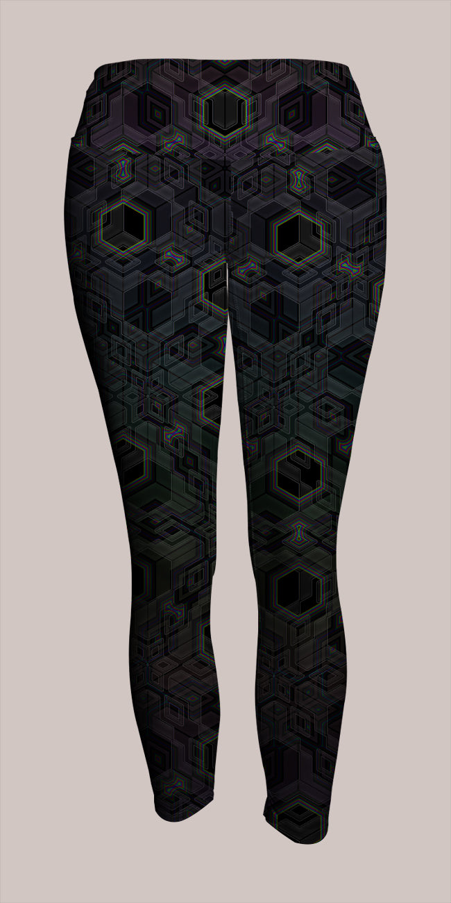 Platform Crop Leggings - Tetramode® | Psy Styles. Men & Womens Psychedelic Tops & Bottoms