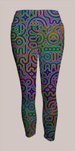 Psylingual Crop Leggings - Tetramode® | Psy Styles. Men & Womens Psychedelic Tops & Bottoms
