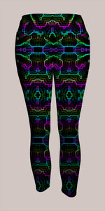 Techno Shamanic RGB Crop Leggings - Tetramode® | Psy Styles. Men & Womens Psychedelic Tops & Bottoms