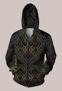 Ethos Psychedelic Unisex Designer Hoodie by Cate & Sam Farrand