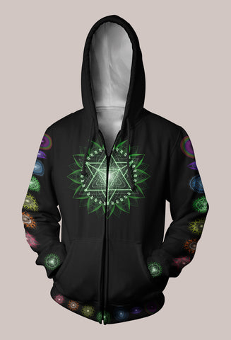 Light Body Activation Psytrance Designer Hoodie (Unisex) - Tetramode® | Psy Styles. Men & Womens Psychedelic Tops & Bottoms